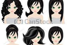 girl and boy clipart