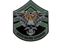 Biker Patches - Marine Corps / If you're a member of US Marine, then this is a category probably for you.You can pick and stick these patches on your jackets and vest, when you are in out of uniform this is a great way to show off that you're a service man. This is a category not only for who have been in USMC, but also for the family members who have a person in marine. You can Sew or Iron on this badges on your clothes. All patches feature die-cut borders and heat activated adhesive at the back.  / by The Cheap Place