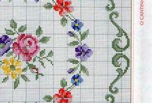 KANAVİÇE - ÇİÇEK - CROSS STITCH - FLOWER