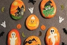 Rock painting Halloween
