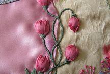 Silk ribbon embroidrey