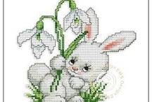Haft krzyzykowy (Wielkanoc) / Cross stitching (Easter)
