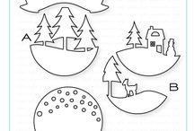 kerstmis papieren afbeeldingen