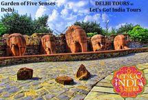 Garden of Five Senses / Read blog on Garden of Five Senses  http://letsgoindiatours.blogspot.in/2016/03/garden-of-five-senses.html