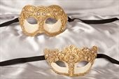 His n Hers Masks for couples / Masquerade masks for couples attending a masquerade wedding reception