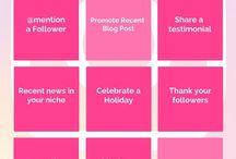 CONTENT IDEEN / Falls dir mal die Ideen ausgehen, was du auf deinen Social Media Kanälen posten sollst.