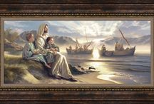 Art for over the sofa / Inspirational art that fits perfectly over the sofa.  To help our families promote the values that are important to them; to teach our children about our faith in Jesus Christ. #Christian #LDS