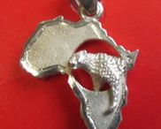 AFRICAN STERLING SILVER PENDANTS