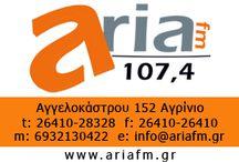 Aria FM 107.4 / Ο  Aria fm, έχει καταξιωθεί από το 1995 στη συνείδηση των ακροατών της Αιτωλοακαρνανίας και  όχι μόνο . Απευθύνεται σε όλους και πιο ειδικά σε αυτούς που θέλουν να ξεφύγουν από την καθημερινότητα και θέλουν να ακούσουν κάτι διαφορετικό από αυτά που προσφέρουν τα ραδιοκύματα . www.ariafm.gr