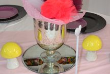 Fairy Inspired party / My work : used fairy wands, tulle, flower balloons. mushrooms and fairly like colours,