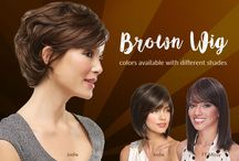 Brown wig colors available with different shades / Brown, the color of earth, wood, stone, wholesomeness, reliability, elegance, security, healing, home, grounding, foundations, stability, warmth, and honesty, is a natural, neutral color that is typically associated with the seasons of fall and winter. Brown provides feelings of organization, history, and connection, as well as cozy feelings of relaxation and warmth.