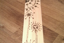 Wood/Faux wood / Wood burning ideas, stamping on wood, wood grain embossing folder