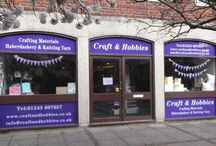 Craft & Hobbies - New Shop / Craft & Hobbies Shop Crafting Materials, Haberdashery, Knitting Yarn, Craft Classes & Groups. 2 Harfield Court, High Street, Bognor Regis, West Susses, PO21 1EH / by Craft And Hobbies