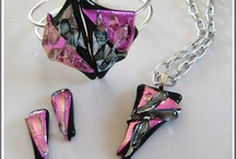 dichroic jewelry / Fused dichroic jewelries