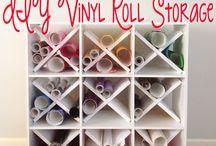 Vinyl rolls organisation