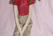 Bonecas de pano - - Tildas / bonecas em algodão cru