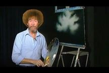 Watches Bob Ross artist You tube