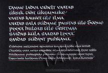 Estonian Calligraphy / Maria Helena, New Orleans Calligraphy Art