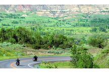 Motorcycling in North Dakota / Few things are as exhilarating as hopping onto a big two-wheeler, rolling the throttle and rumbling out onto the prairie. Or exploring that trail through the woods and across the river on an adventure ride. North Dakota is 70,000 square miles of motorcycling bliss.