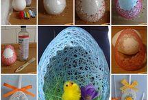 Lepené vajíčka s bavlnkou