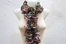 ruffled scarf