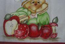 artesanato da mara / pintura, tampa bolo, etc....