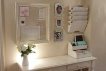 Office Nook Ideas / www.dimplesdecor.com