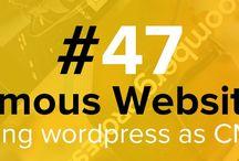 Famous Websites- WP as CMS