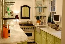 17 a charleston kitchen / like the way chimney is incorporated into shorter - horizontal cabinets