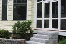 Front Steps and Back Steps / Granite steps are the ultimate choice in beauty and durability. Produced with our quality granite, these steps hold up to all that mother nature can dish out. They won't chip or crack from the freeze/thaw process, or degrade over time like wood, brick and concrete, and are unaffected by ice melting chemicals.