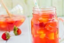 Theme - Summer Fruits / Bright colours, lime, orange, yellow, punch, cherries, citrus leaves, lemonade and old fashioned bottles type thing
