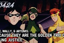 DC heros (justice league, young justice)