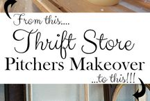 Thrift Store DIY / thrift store, thrifting, repurpose, DIY,
