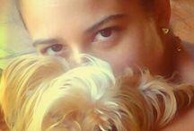 Mis fotos / Joven con perro yorkie