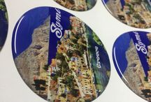 Greek spirit domed stickers