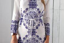 Dresses blue white