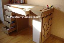 mobilier de récup et carton