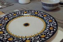 Piatti da tavola in maiolica / Ceramiche Artistiche