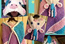 Unicorn throw crochted
