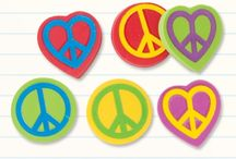 It's all about retro! / If you love peace signs and tie dye, this board is for you!