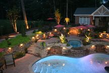 Outdoor Lighting / Light up the night and enjoy your yard well after the sun goes down with outdoor lighting.