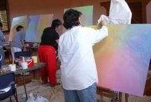 Teaching Art / Charles Andrade teaches fine art, veil painting and color theory as well as Lazure workshops to communities worldwide.