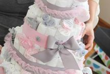 nappy cake for a girl.