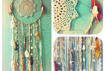 Put a string to it / Strings...: Pearls or flowers on a string * Dream Catchers * Bracelets * Decorate with strings/yarn * Fun stuff