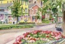 Our Artist in Residence / Sample works by Lois Stevens