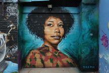 Black street art