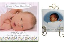 Christening Tiles / It is a very old tradition to create a Birth Tile to celebrate the arrival of your new born baby. this Birth Tile will make a beautiful gift and long lasting keepsake for parents, god parents or grand parents.