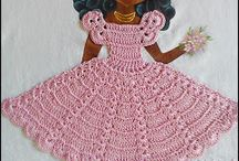 muñecas tejidas para cojines
