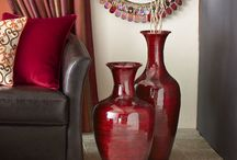 Adding red to a room / Adding a little splash of color can liven up any neutral color scheme.  Here are ideas for adding a bit of red to your room