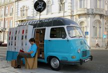 Pop Up Shops On Wheels / Some of the coolest retail examples we have seen on the road. Capable of changing location easily, a wonderful pop-up retail option.